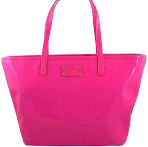 Kate Spade Pink Heart Harmony Metro Tote Bag